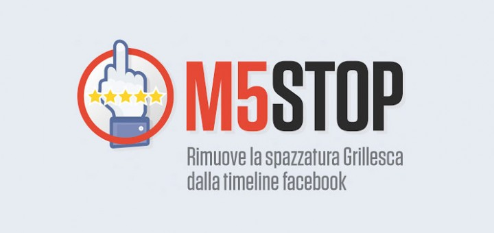 M5STOP per Chrome e addio al M5S su Facebook