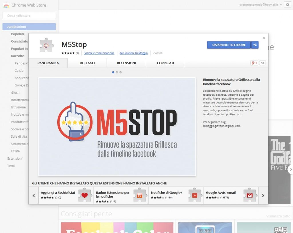 M5STOP - Scheda Tecnica
