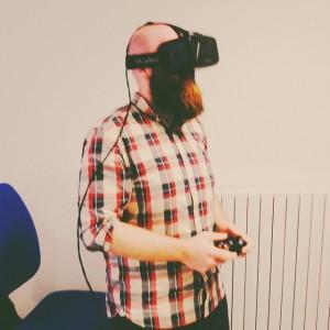 Alessio Cifani alle prese con Oculus Rift