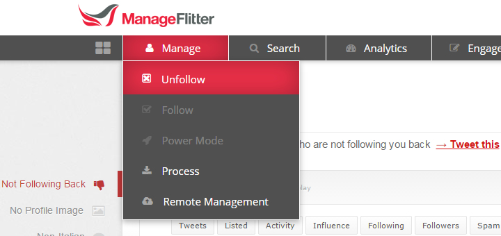 ManageFlitter - Step one