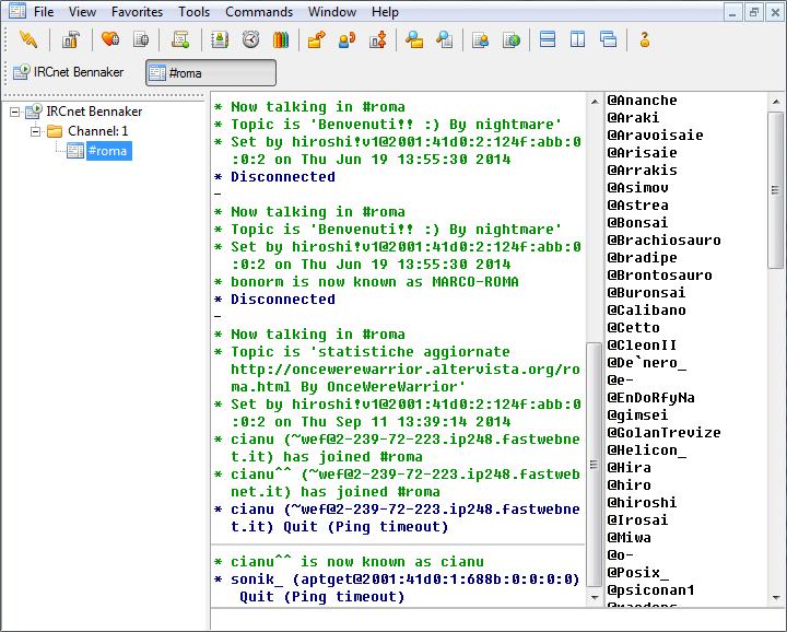 mIRC - Screenshot