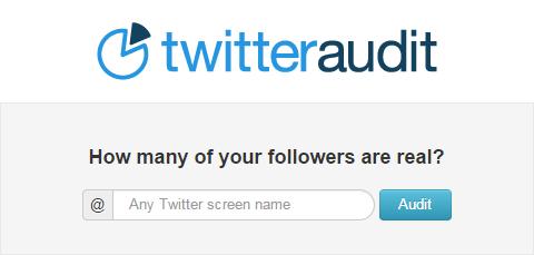 TwitterAudit - Campo di testo