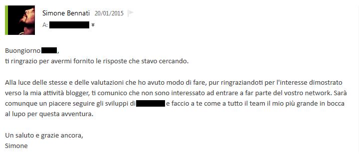 Mail di risposta
