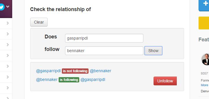 Crowdifire - Relationship Check - Gasparripdl e Bennaker