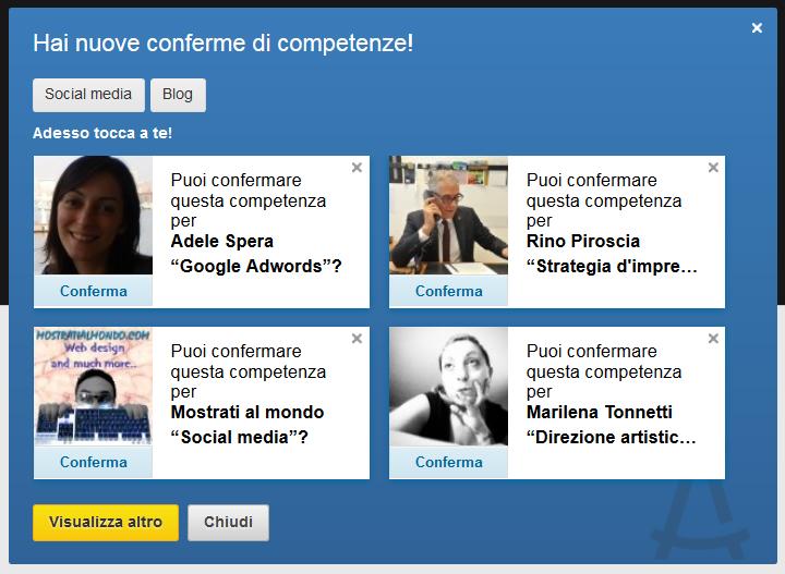 LinkedIn - Competenze