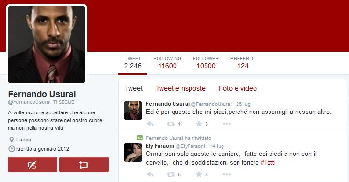 Fernando Usurai - Fakebot di Twitter