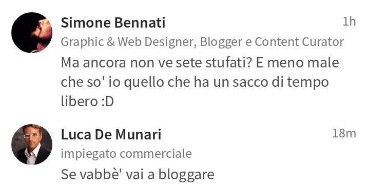 Vai a bloggare