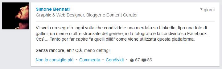 LinkedIn - Status