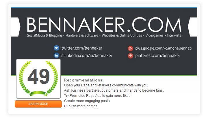 LikeAlyzer - Pagina Facebook Bennaker.com