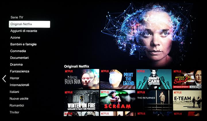 Netflix - Categorie
