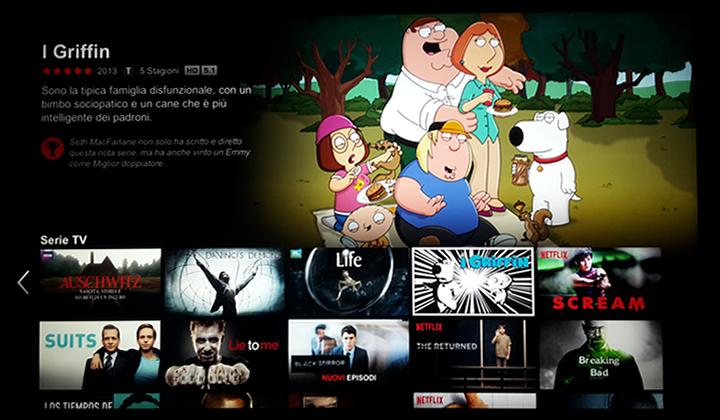 Netflix - Visualizzazione a mosaico