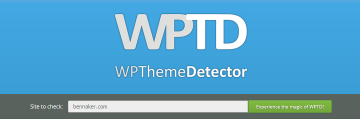 WordPress Theme Detector - Homepage