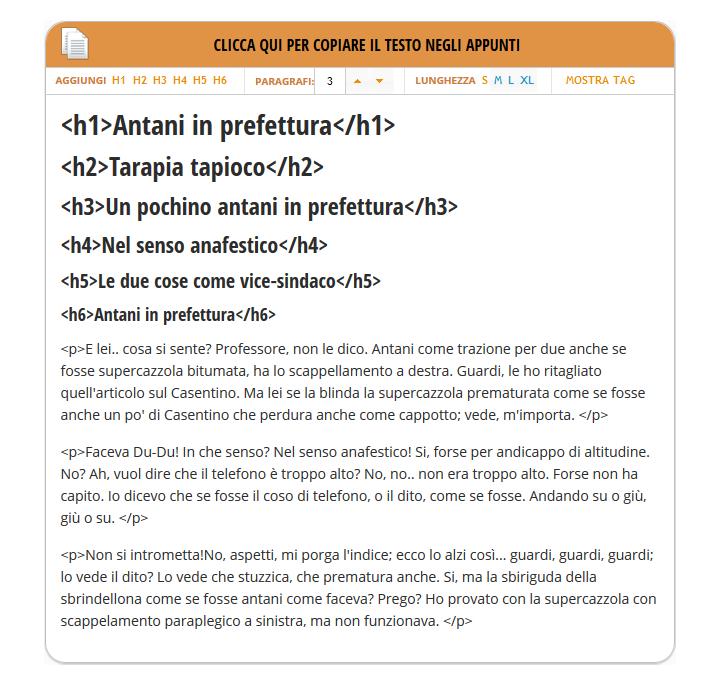 Antanipsum - Testo