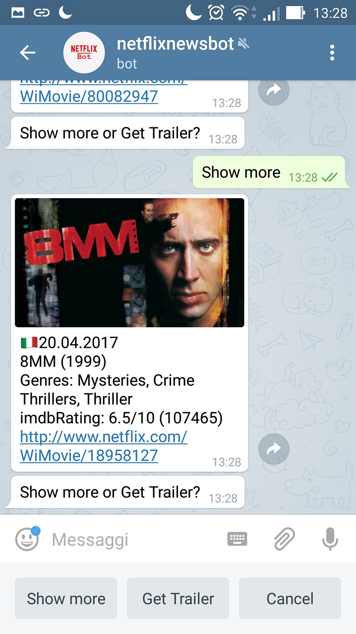 Netflix Telegram Bot - Update