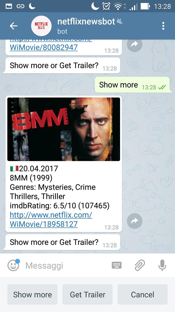 Netflix Telegram Bot - Update