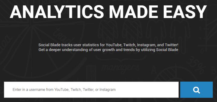 SocialBlade - Homepage