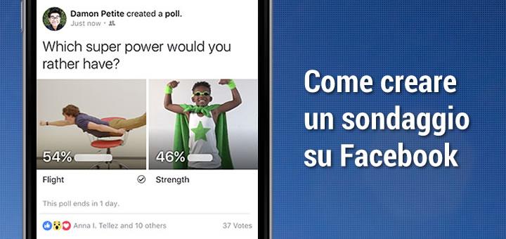 Come creare un sondaggio su Facebook