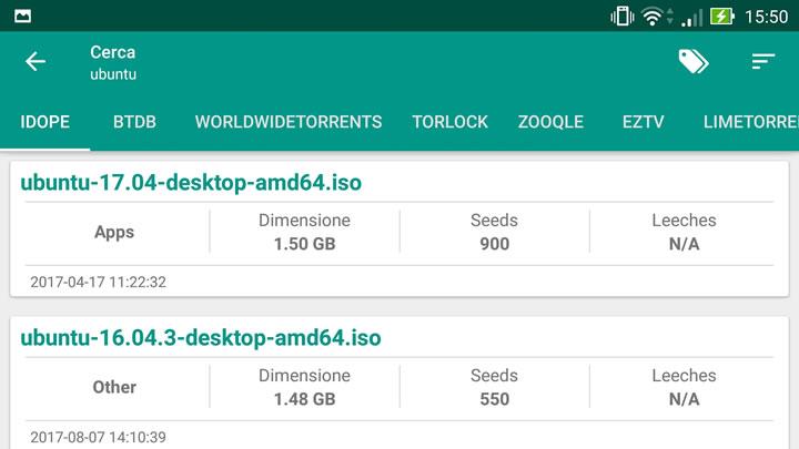 Torrent Search Engine - Risultati di ricerca